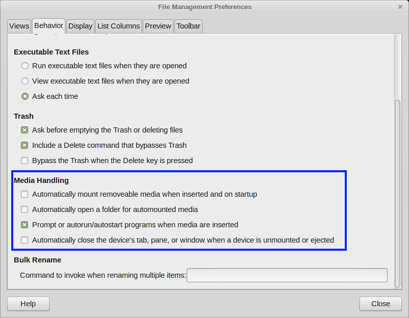 How to disable auto mounting on Linux Mint Cinnamon