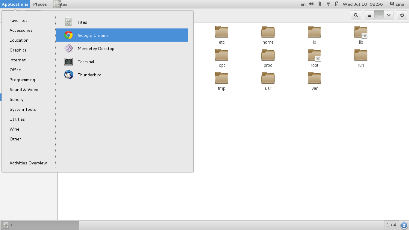 GNOME-classic-mode-menu-and-files.png