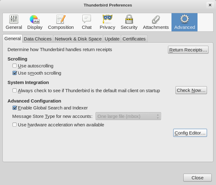 Thunderbird Tips: Default Descending Email Sort Order and