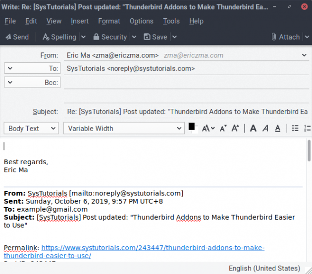 How To Configure Outlook Style Email Reply Header In