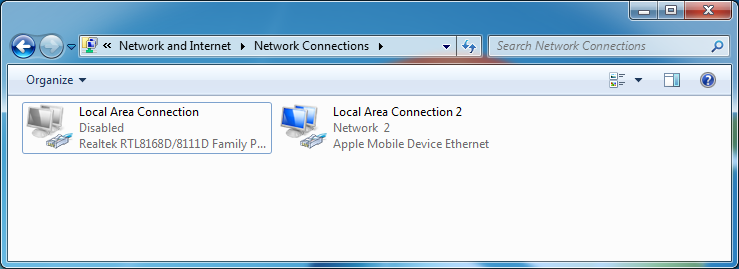 iPhone Connecting to Internet Using Windows PC's Network