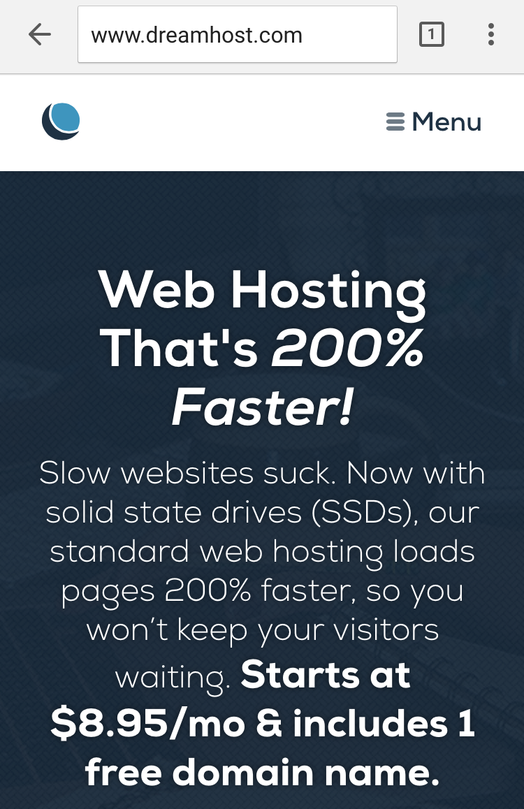 DreamHost SSD Shared Hosting
