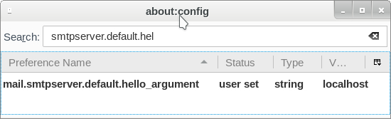 thunderbird hello argument config