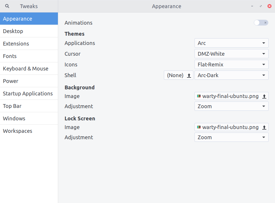 User Themes in Gnome